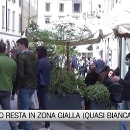 Bergamo - una zona gialla che tende al bianco
