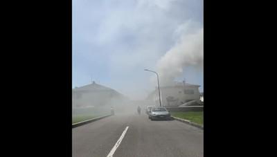 Incendio a Dalmine in via Garbagni