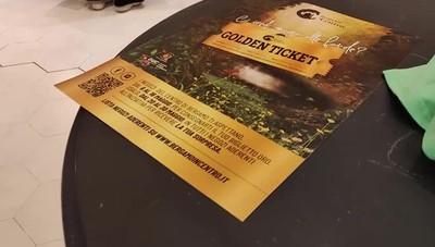 Iniziata la distribuzione del Golden Ticket nei negozi di Bergamo