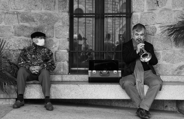 La foto vincitrice. RICCARDO PITTAU (tromba) a Luogosanto (SS) in Gallura.