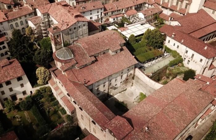 L'ex carcere di Sant'Agata in Città Alta visto dall'alto