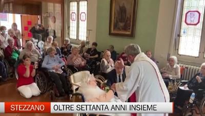 Stezzano: festa alla casa di riposo per i 71 anni di matrimonio