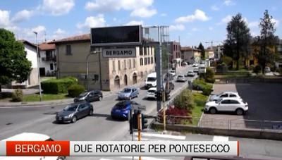 Bergamo due rotonde anti traffico per Pontesecco sperando del tram
