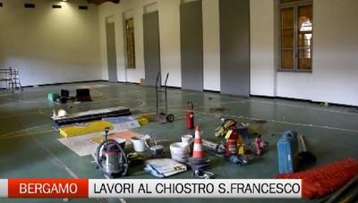 Bergamo: partono i lavori al chiostro di San Francesco