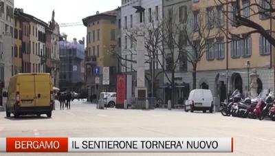 Bergamo: presentato il nuovo Sentierone davanti a Palazzo Frizzoni