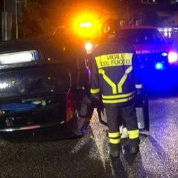 Bonate Sopra, auto ribaltata in galleria: nessun ferito - Foto