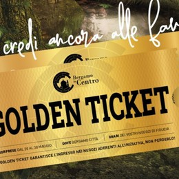 Come ne «La Fabbrica di Cioccolato»: i commercianti del centro di Bergamo lanciano il «Golden Ticket»