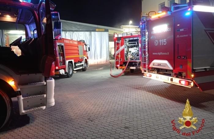 I Vigili del fuoco in azione a Bottanuco