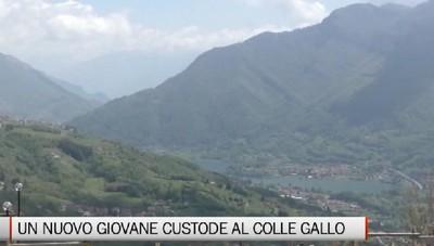 Gaverina Terme, un giovane custode al Colle Gallo