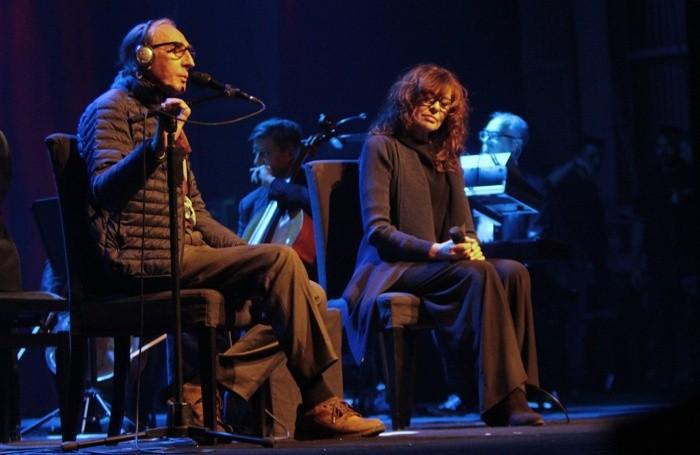 Battiato e Alice al Teatro Creberg nel 2016