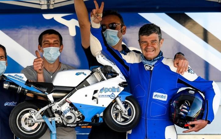 Record da guinness a Brembate:  impresa in minimoto per Valerio Boni. Oltre 750 km in sella