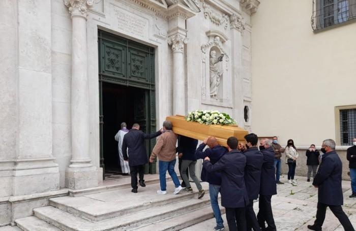 Il funerale di Marco Oldrati, morto sul lavoro