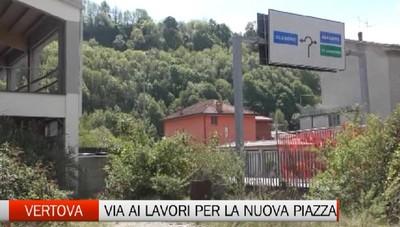 Vertova, una nuova piazza all'ingresso del paese