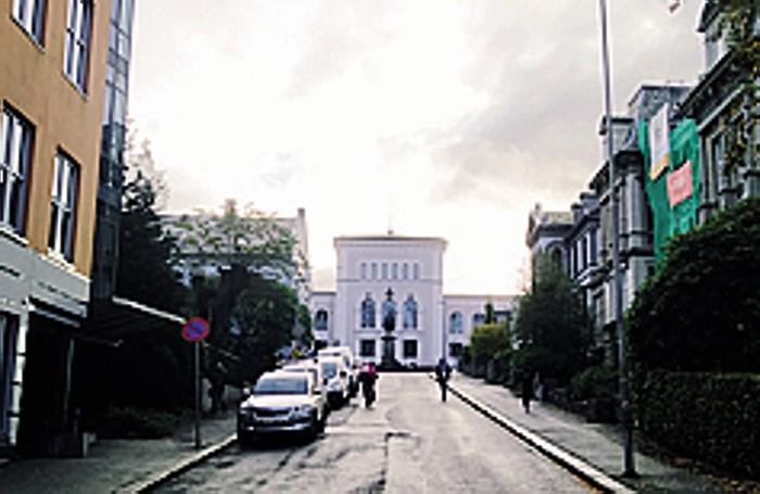 Sulla strada verso l'università di Bergen