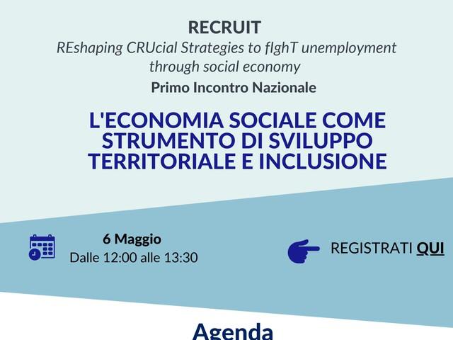 """""""L'economia sociale come strumento di sviluppo territoriale e inclusione"""""""