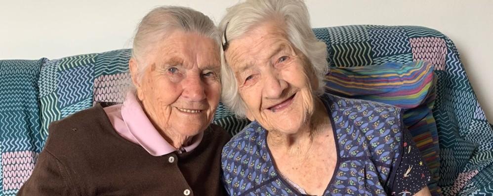 Antonietta e Giuseppina, sorelle speciali a Sant'Omobono: 210 anni in due