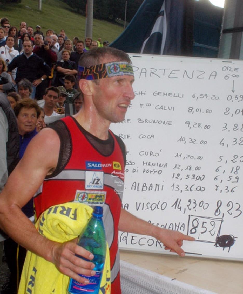 Poletti in versione atleta con il record del 2005