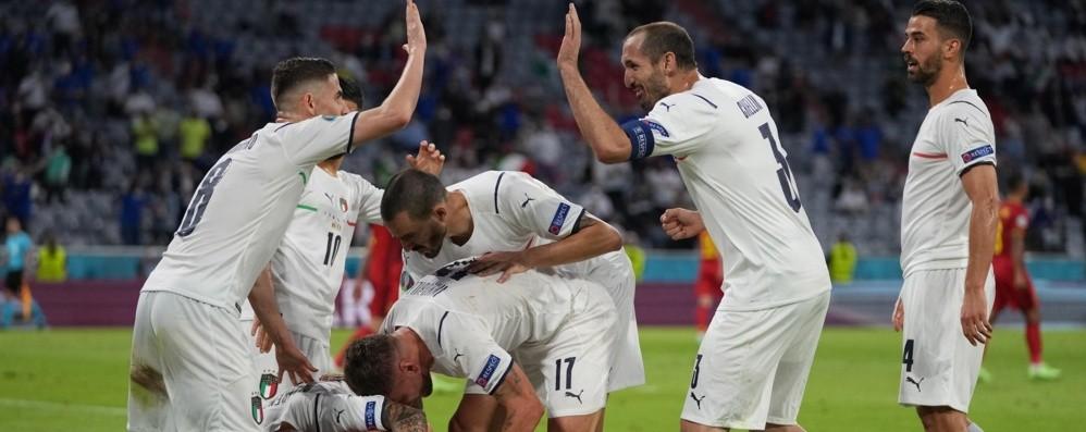Barella e Insigne, l'Italia batte il Belgio 2-1 e vola in semifinale: ora c'è la Spagna