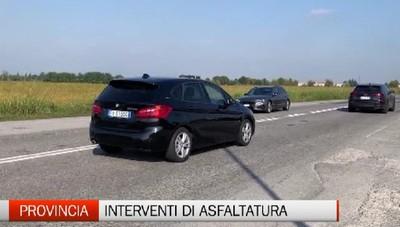 Bassa Pianura: interventi di asfaltuta per il dissesto delle strade