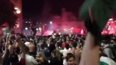 Bergamo, la festa per gli Europei