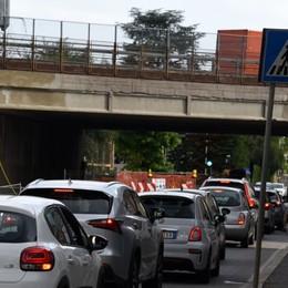 Cantiere sul ponte di via Zanica, torna il doppio senso di marcia. Lavori alle fasi conclusive