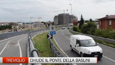 Chiude da oggi il ponte della Baslini di Treviglio