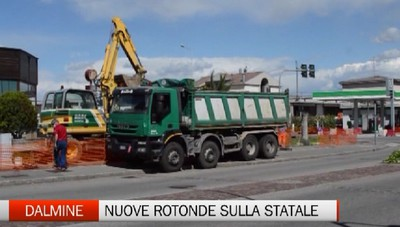 Dalmine: nuove rotonde anti traffico sula statale