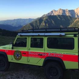 Escursionista disperso a Valbondione:  ricerche per tutta la notte, trovato