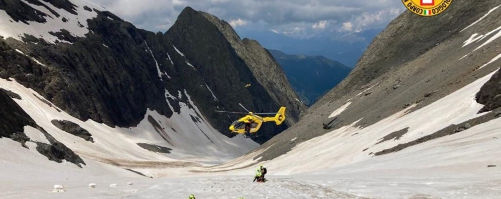 In cordata cadono per 300 metri: salvati due escursionisti sul Pizzo Redorta - Foto