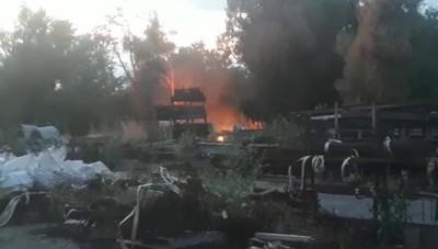 Incendio a Telgate, domato dai pompieri