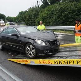 Incidente sullo svincolo dell'A4 a Seriate: sei feriti tra cui due bimbi di 4 e 5 anni
