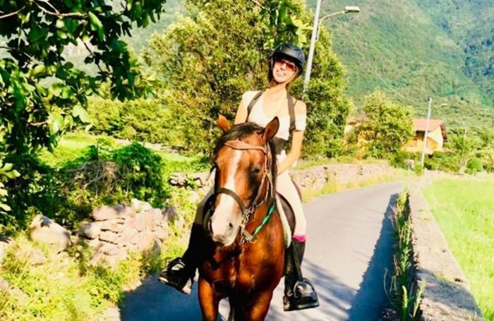 A cavallo, la sua grande passione