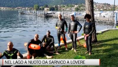 La traversata del lago d'Iseo a nuoto da Sarnico a Lovere