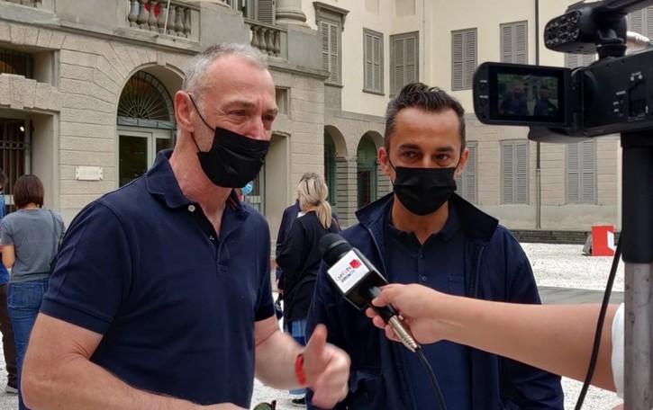 Linus e Nicola a Bergamo: da qui si parte per il Tour de Fans - Foto e video