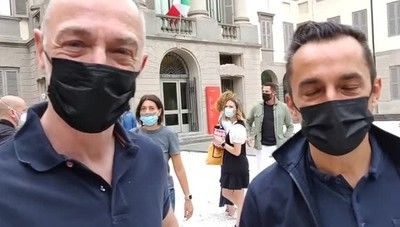 Linus e Nicola Savino a Bergamo, parte il Tour de Fans