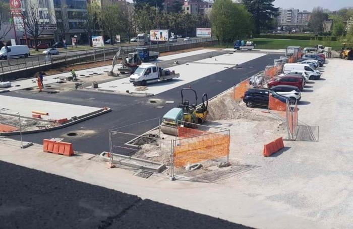 I lavori al parcheggio di Borgo Palazzo