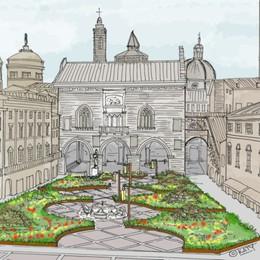 Piazza Vecchia verde,  diventerà una prateria con 15 mila piante di 100 varietà diverse