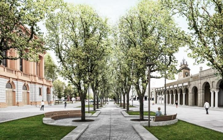 Restyling del centro Piacentiniano: i lavori si allargano al Sentierone. Ecco le foto di come sarà e i cambiamenti alla viabilità