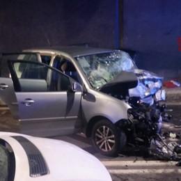Scontro tra un'auto e un furgone in galleria a San Pellegrino: due feriti, uno è grave - Foto