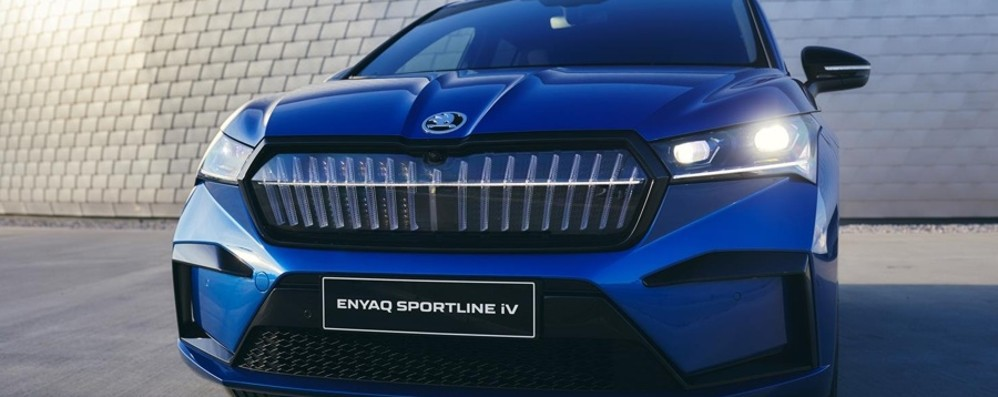 Škoda Enyaq iV elettrico in versione Sportline