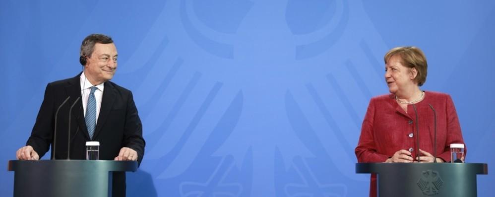 Vertice Merkel-Draghi: la Cancelliera tedesca a sorpresa cita Gosens e Bergamo - Il video