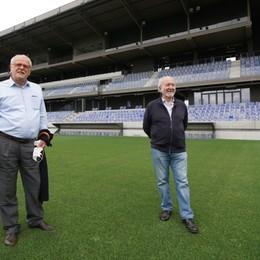 Zanica, Ghirelli (Lega Pro)  al nuovo stadio: «AlbinoLeffe club virtuoso» - Foto/video