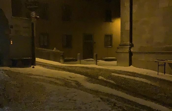 Strade imbiancate ad Ardesio