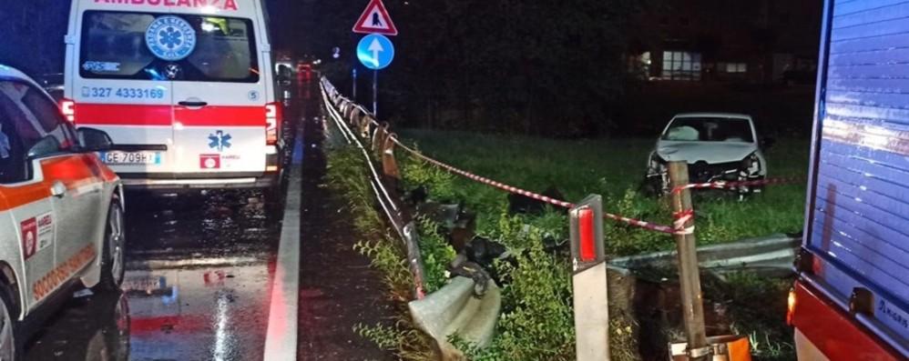 Auto fuori strada a Ranica, coinvolto anche un bambino di 10 anni - Foto
