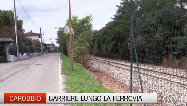 Carobbio, barriere di sicurezza lungo il binario ferroviario