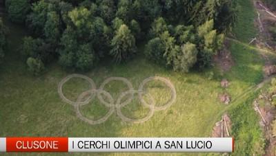 Clusone, i cerchi delle Olimpiadi sui prati di San Lucio