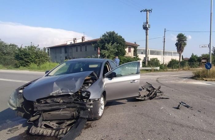 La Lancia dopo l'incidente