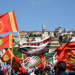 Sciopero dei metalmeccanici a Bergamo, due ore di presidio