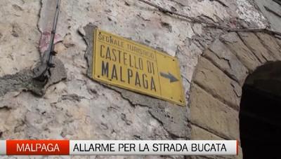 Voragine sulla strada per il castello di Malpaga