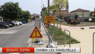 Continuano i lavori di sistemazione delle strade e dei parcheggi a Bonate Sopra